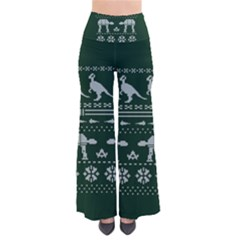 Holiday Party Attire Ugly Christmas Green Background Pants by Onesevenart