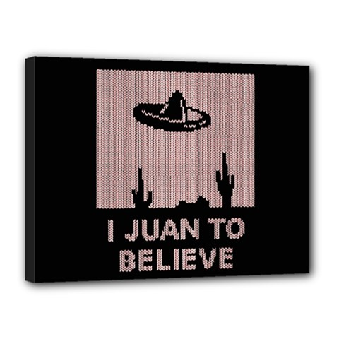 I Juan To Believe Ugly Holiday Christmas Black Background Canvas 16  X 12  by Onesevenart
