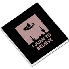 I Juan To Believe Ugly Holiday Christmas Black Background Small Memo Pads by Onesevenart