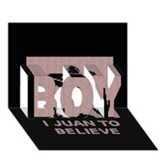I Juan To Believe Ugly Holiday Christmas Black Background Boy 3d Greeting Card (7x5) by Onesevenart
