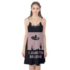 I Juan To Believe Ugly Holiday Christmas Black Background Camis Nightgown by Onesevenart