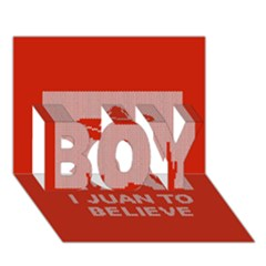 I Juan To Believe Ugly Holiday Christmas Red Background Boy 3d Greeting Card (7x5) by Onesevenart