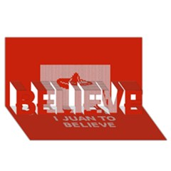 I Juan To Believe Ugly Holiday Christmas Red Background Believe 3d Greeting Card (8x4)