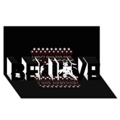 I Wasn t Good This Year, I Was Awesome! Ugly Holiday Christmas Black Background Believe 3d Greeting Card (8x4)
