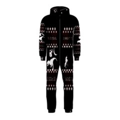 I Wasn t Good This Year, I Was Awesome! Ugly Holiday Christmas Black Background Hooded Jumpsuit (kids) by Onesevenart