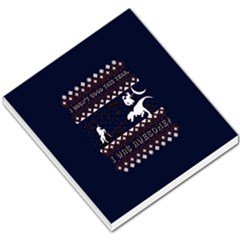 I Wasn t Good This Year, I Was Awesome! Ugly Holiday Christmas Blue Background Small Memo Pads by Onesevenart