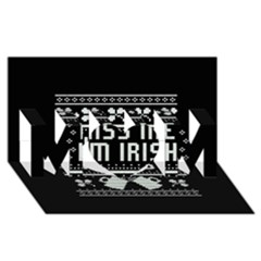 Kiss Me I m Irish Ugly Christmas Black Background Mom 3d Greeting Card (8x4) by Onesevenart