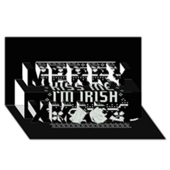 Kiss Me I m Irish Ugly Christmas Black Background Merry Xmas 3d Greeting Card (8x4) by Onesevenart