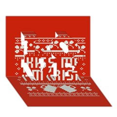 Kiss Me I m Irish Ugly Christmas Red Background Love 3d Greeting Card (7x5) by Onesevenart