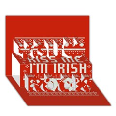 Kiss Me I m Irish Ugly Christmas Red Background You Rock 3d Greeting Card (7x5) by Onesevenart