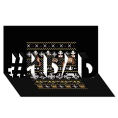 Merry Nerdmas! Ugly Christma Black Background #1 Dad 3d Greeting Card (8x4) by Onesevenart