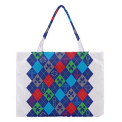 Minecraft Ugly Holiday Christmas Medium Tote Bag by Onesevenart