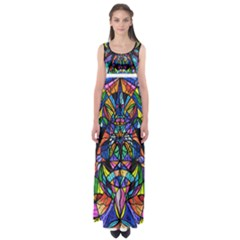 Arcturian Awakening Grid   Empire Waist Maxi Dress