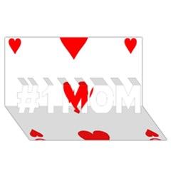 Cart Heart 03 Tre Cuori #1 Mom 3d Greeting Cards (8x4)