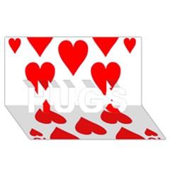 Cart Heart 10 Dieci Cuori Hugs 3d Greeting Card (8x4)