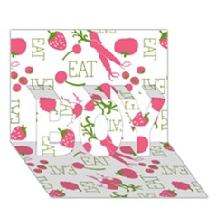 Eat Pattern Tomato Cerry Friute Boy 3d Greeting Card (7x5) by AnjaniArt