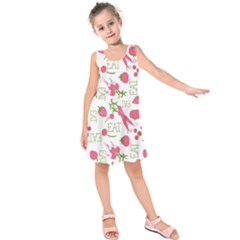 Eat Pattern Tomato Cerry Friute Kids  Sleeveless Dress