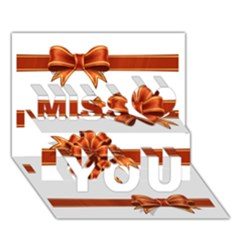 Gift Ribbons Miss You 3d Greeting Card (7x5) by AnjaniArt