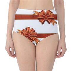 Gift Ribbons High Waist Bikini Bottoms by AnjaniArt