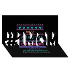 My Grandma Made This Ugly Holiday Black Background #1 MOM 3D Greeting Cards (8x4) by Onesevenart