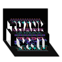 My Grandma Made This Ugly Holiday Black Background Thank You 3d Greeting Card (7x5) by Onesevenart