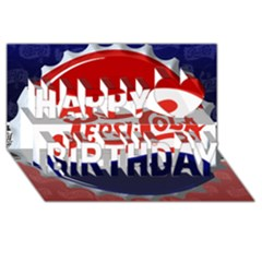 Pepsi Cola Happy Birthday 3d Greeting Card (8x4) by Onesevenart