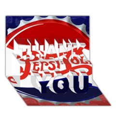 Pepsi Cola Thank You 3d Greeting Card (7x5) by Onesevenart