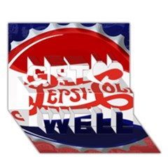 Pepsi Cola Get Well 3d Greeting Card (7x5) by Onesevenart