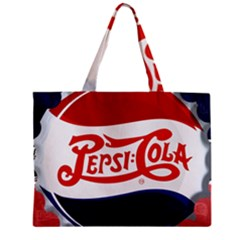 Pepsi Cola Zipper Mini Tote Bag by Onesevenart