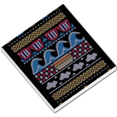 Ugly Summer Ugly Holiday Christmas Black Background Small Memo Pads by Onesevenart