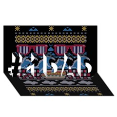 Ugly Summer Ugly Holiday Christmas Black Background #1 Dad 3d Greeting Card (8x4) by Onesevenart