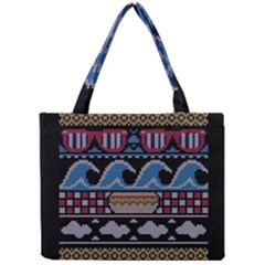 Ugly Summer Ugly Holiday Christmas Black Background Mini Tote Bag by Onesevenart