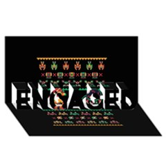 We Wish You A Metroid Christmas Ugly Holiday Christmas Black Background Engaged 3d Greeting Card (8x4) by Onesevenart