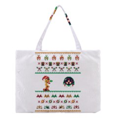 We Wish You A Metroid Christmas Ugly Holiday Christmas Medium Tote Bag by Onesevenart