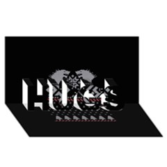 Winter Is Coming Game Of Thrones Ugly Christmas Black Background Hugs 3d Greeting Card (8x4) by Onesevenart