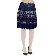 Winter Is Coming Game Of Thrones Ugly Christmas Blue Background Pleated Skirt