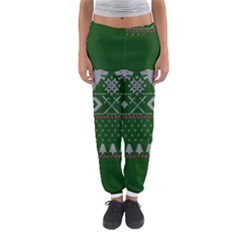 Winter Is Coming Game Of Thrones Ugly Christmas Green Background Women s Jogger Sweatpants by Onesevenart