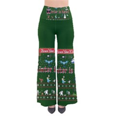 Winter Is Here Ugly Holiday Christmas Green Background Pants by Onesevenart