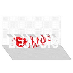 Hello Lip Red Sexy Best Sis 3d Greeting Card (8x4)