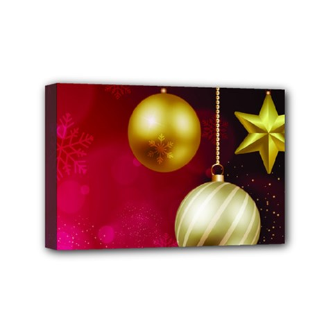 Lamp Star Merry Christmas Mini Canvas 6  X 4  by AnjaniArt