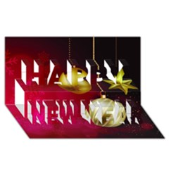 Lamp Star Merry Christmas Happy New Year 3d Greeting Card (8x4) by AnjaniArt