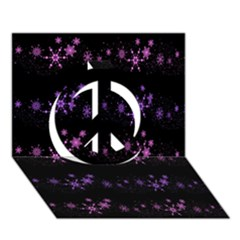 Purple Elegant Xmas Peace Sign 3d Greeting Card (7x5) by Valentinaart