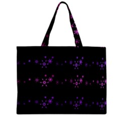 Purple Elegant Xmas Zipper Mini Tote Bag by Valentinaart
