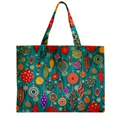 Ornaments Homemade Christmas Ornament Crafts Zipper Mini Tote Bag by AnjaniArt