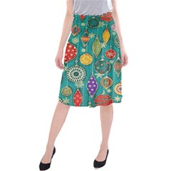 Ornaments Homemade Christmas Ornament Crafts Midi Beach Skirt by AnjaniArt