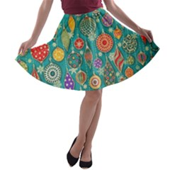 Ornaments Homemade Christmas Ornament Crafts A Line Skater Skirt by AnjaniArt