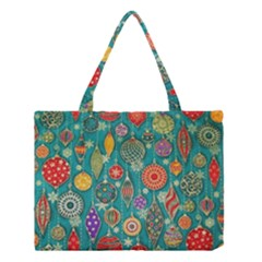 Ornaments Homemade Christmas Ornament Crafts Medium Tote Bag by AnjaniArt
