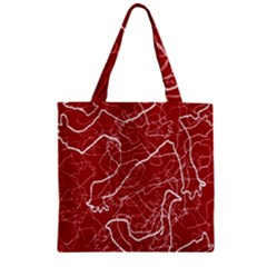 Singt Zipper Grocery Tote Bag by AnjaniArt