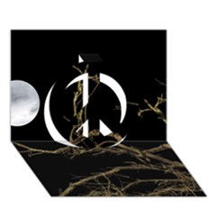Nature Dark Scene Peace Sign 3D Greeting Card (7x5) by dflcprints