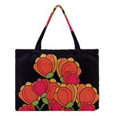 Orange Tulips Medium Tote Bag by Valentinaart